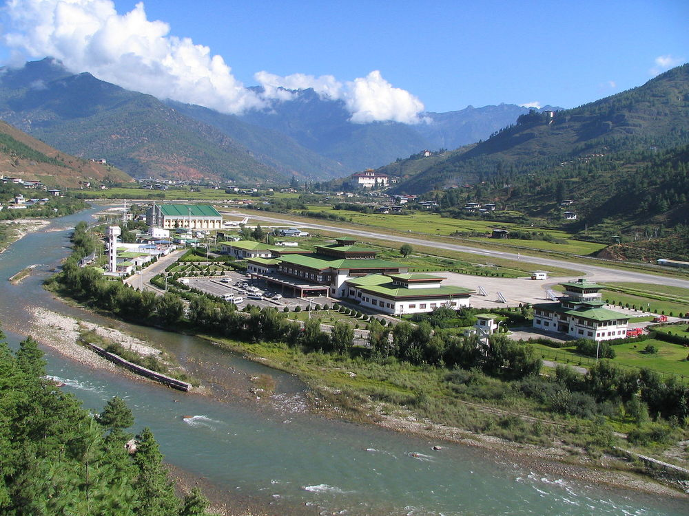 Paro Airport in Bhutan is tricky for pilots. Photo: Douglas J. McLaughlin via Wikimedia Commons.