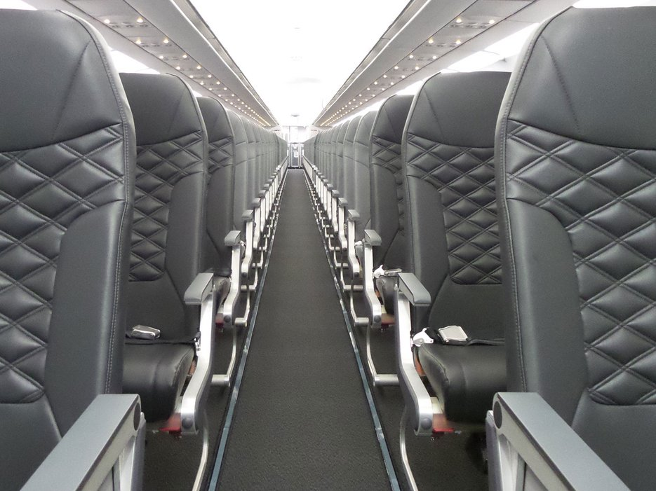 Frontier is installing new seats on its A319s and A320s. Photo: Frontier Airlines.