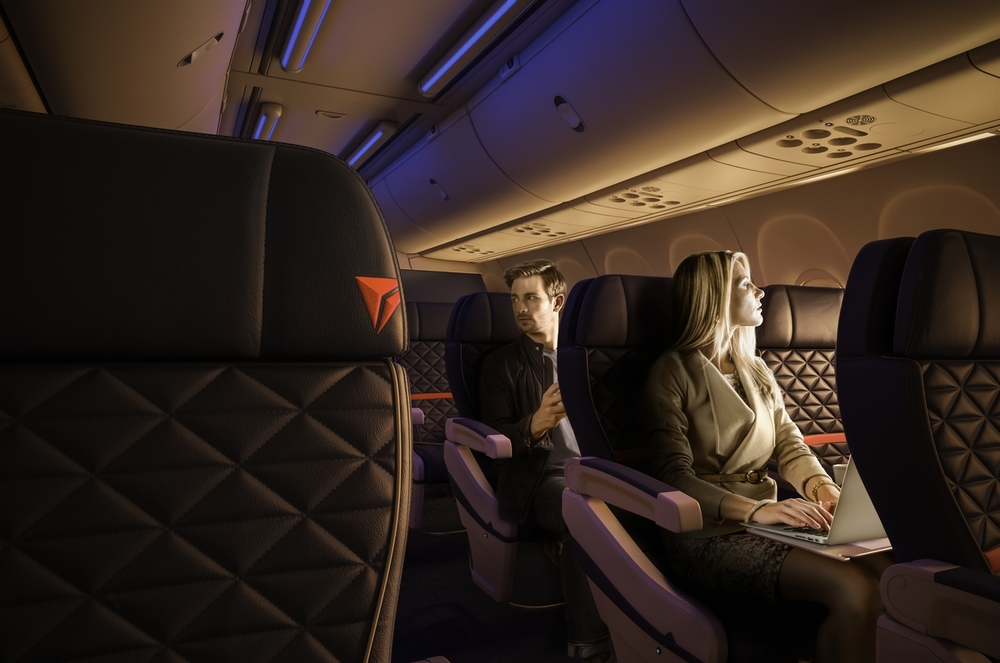 Will Delta do a better job of selling extras to you? Maybe you can buy an upgrade to first class. Photo: Delta.