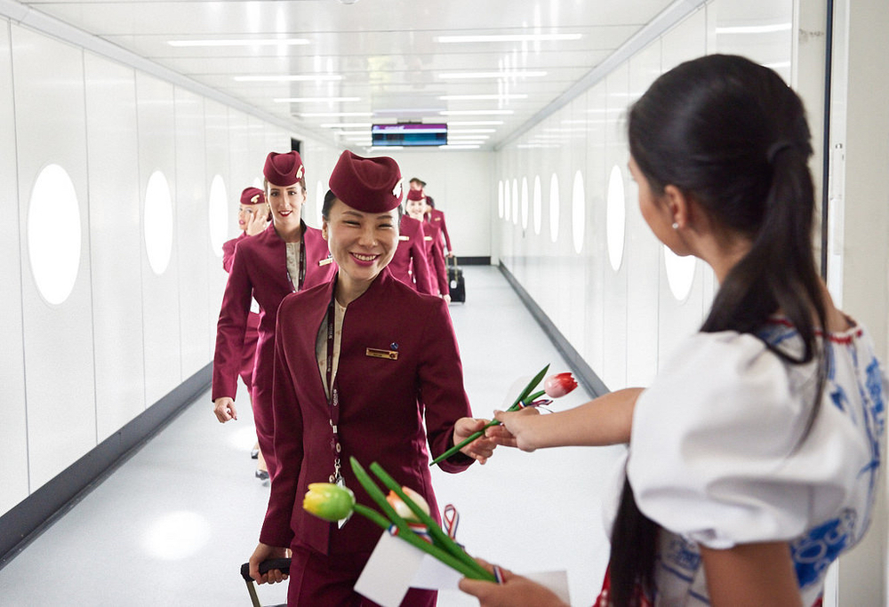 Qatar Airways is improving work rules for flight attendants, Bloomberg reports. Photo: Qatar Airways.
