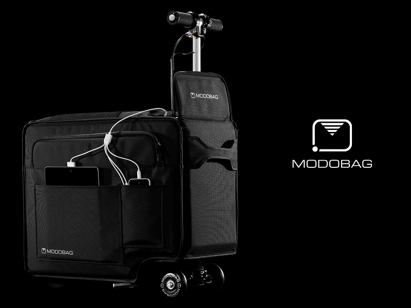 Modobag has created a scooter/carry-on bag. Because why not? Photo: Modobag.