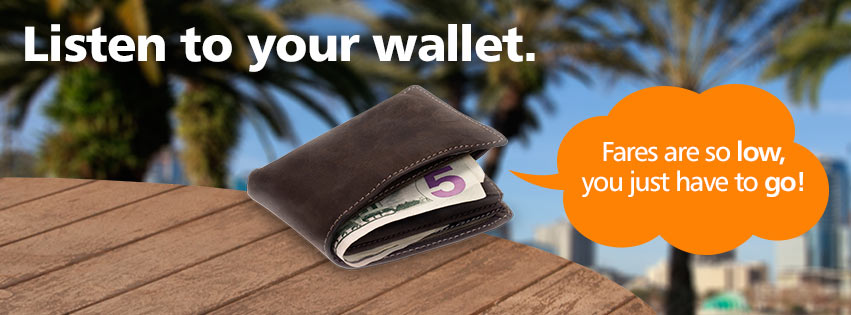 "Allegiant has a new ""listen to your wallet"" campaign. What do you think?"