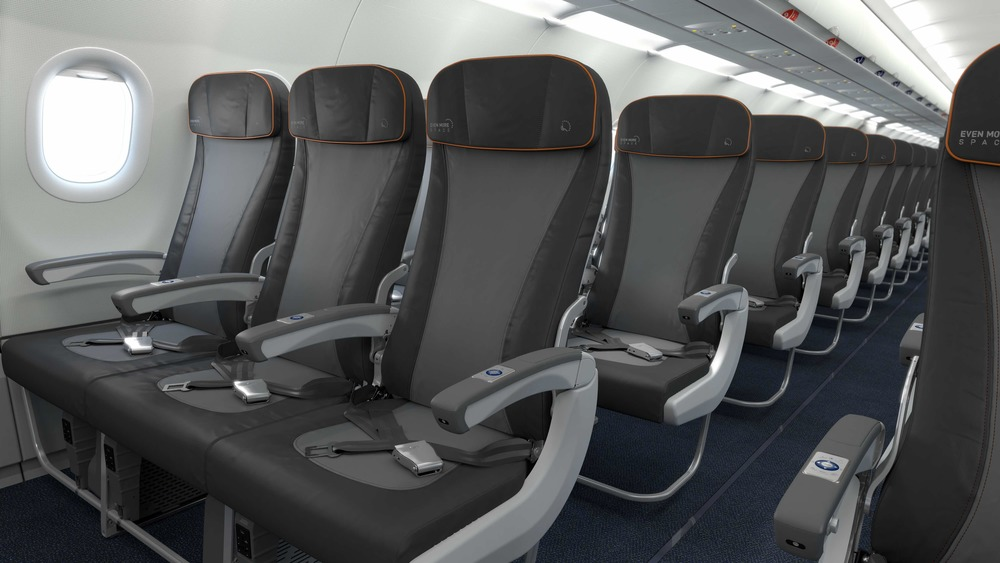 JetBlue is refreshing the interiors on its A320s so they'll match the airline's new A321s. But the airline will take away some legroom. Photo: JetBlue Airways.