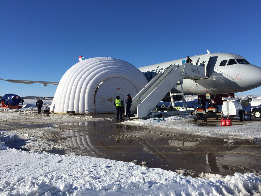 American Airlines has an igloo. Photo: American Airlines.