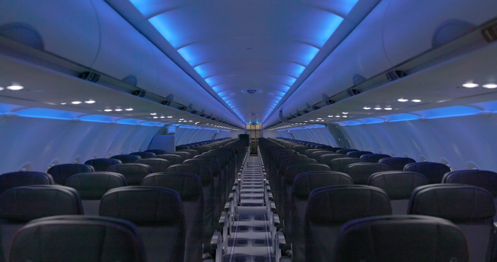 This is what the new JetBlue A320 cabin will look like. Photo: JetBlue.