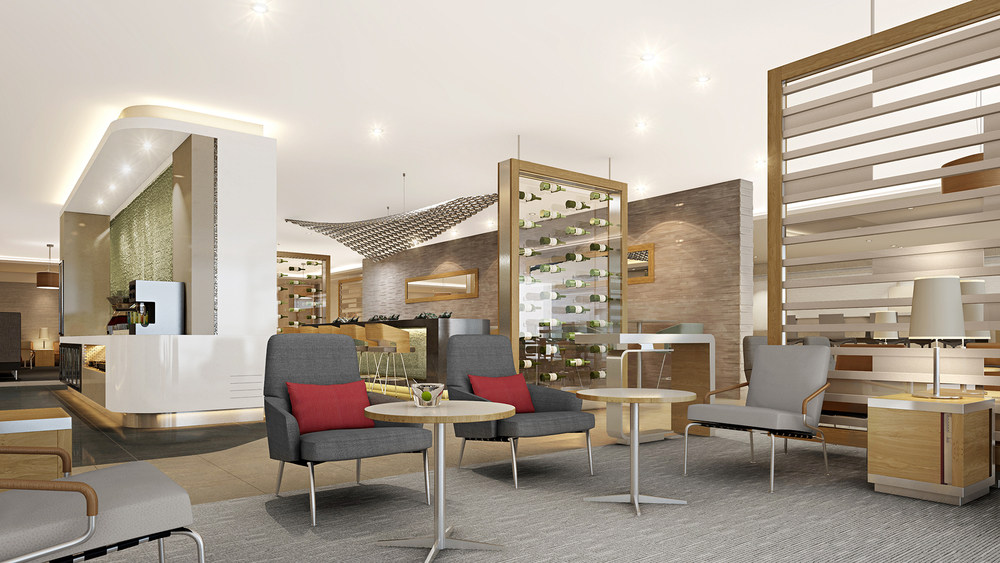 Another rendering of a refreshed Flagship Lounge.