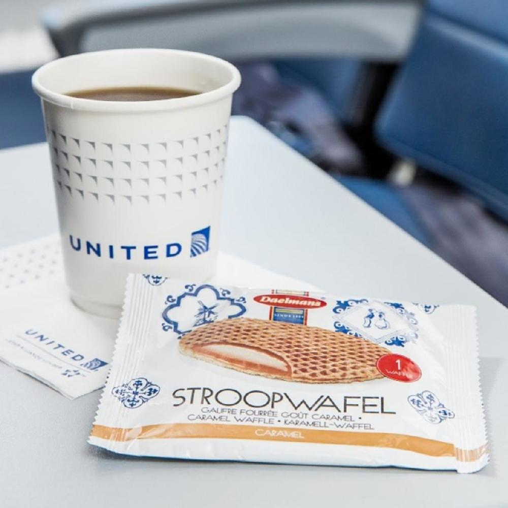 Want a stroopwafel? You won't find them on some international flights. Photo: United.