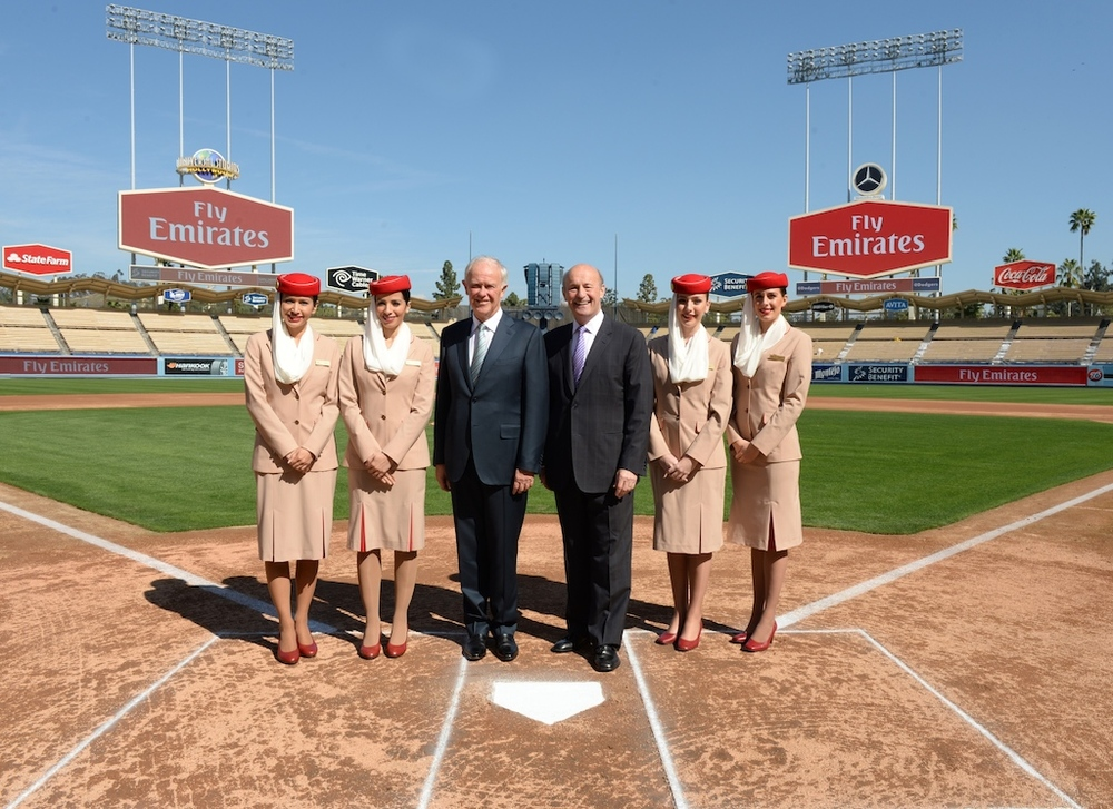 Emirates is the new official airline of the Los Angeles Dodgers. Photo: Emirates.
