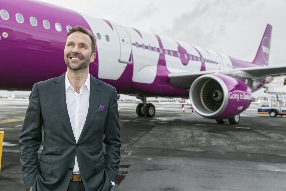 Wow Air CEO Skúli Mogensen doesn't take anything too seriously. Photo: Wow Air.