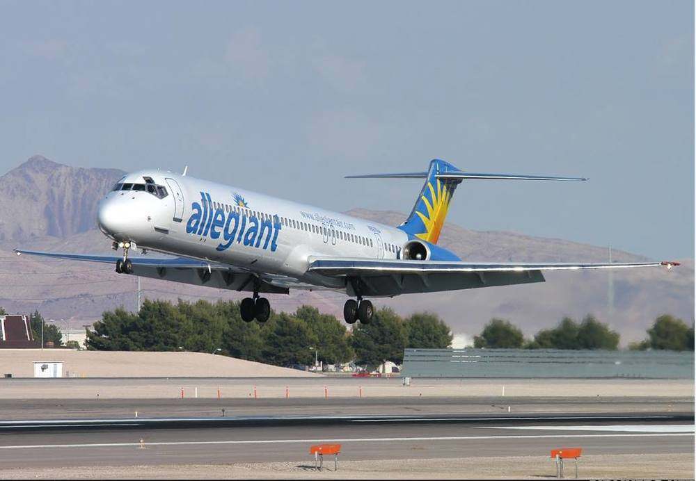 Allegiant Air is giving out a lot of free flights today. Photo: Allegiant Air