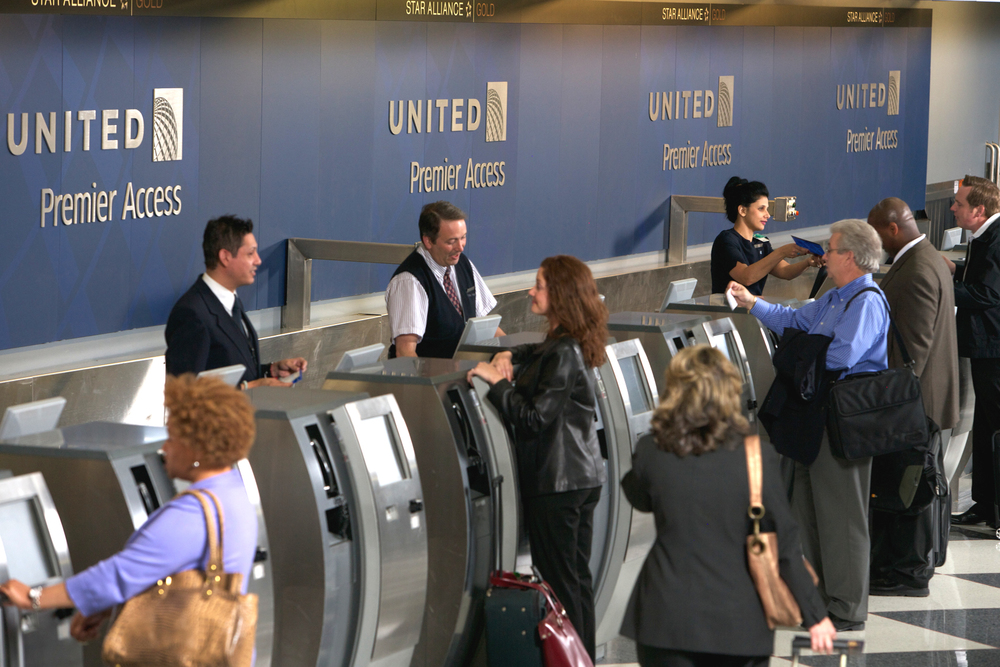 United agents should be able to give you miles if you're having a bad day. Photo: United.