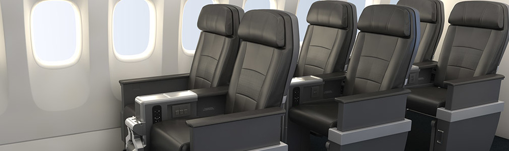 American will eventually have premium economy on its Boeing 777-300ERs. Rendering: American.