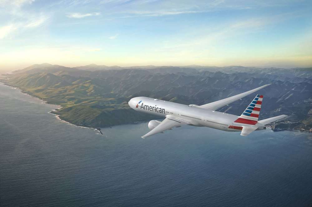 American Airlines will use its flagship airplane, the Boeing 777-300ER, to fly to Hong Kong. Photo: American.