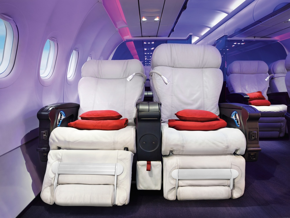 Virgin America has this first class seat on every plane. This is by design. Photo: Virgin America.