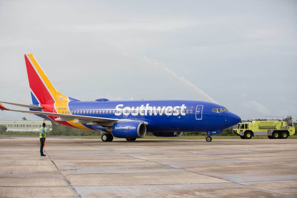 In October 2015, Southwest started flying to Belize, its 96th destination and second in Central America. Photo: Southwest.
