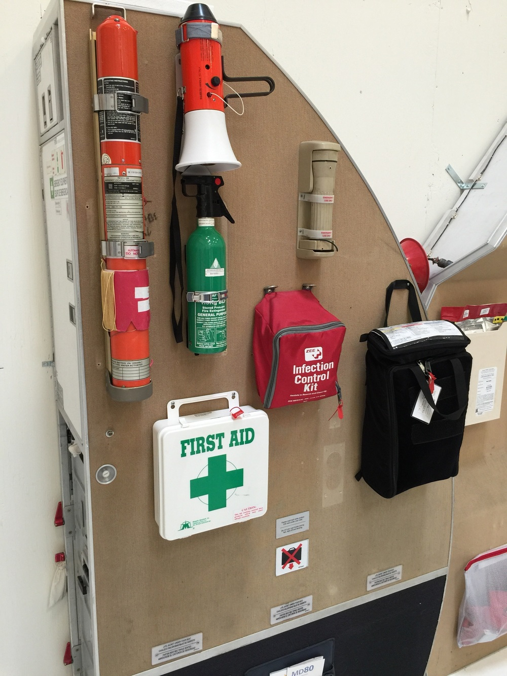 Here's a bunch of emergency equipment.