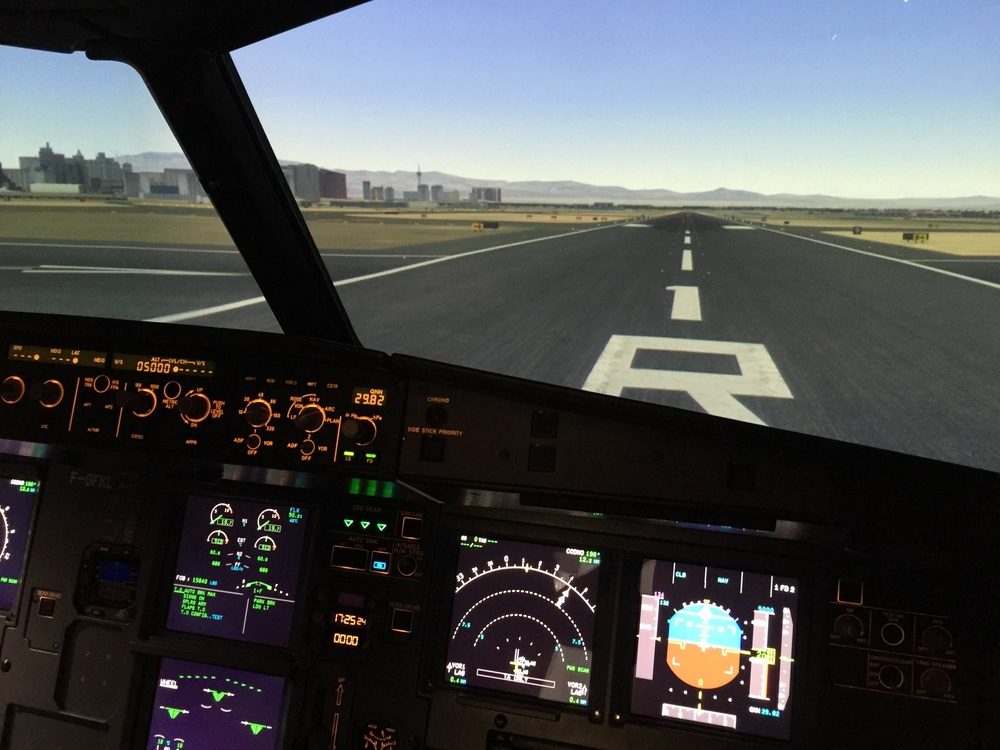 We flew in and out of Las Vegas in the simulator