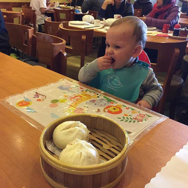 Foodie babies love pork buns. #pivottoasia