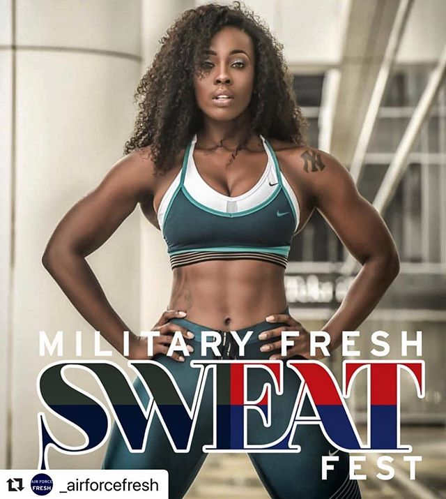 #Repost @_airforcefresh with @make_repost ・・・ ATTENTION: 🚨 🚨 The MFN has just confirmed that @fancy85fit_  will be a special guest at the 2019 MILITARY FRESH SWEAT 💦 FEST‼️ - - Come out and enjoy a day of fitness and fun with the FRESHEST Military Community out there‼️ @militaryfreshnetwork  @armyfresh  @armyfreshfitness  @navyfresh  @semper.fresh  @_airforcefresh  @militaryfreshfitness  @mfn_group - - Some of the top fitness trainers from across the entire military will be there‼️ - HARLEM, NEW YORK - FRIDAY - JUNE 14th  8:00PM: MEET & GREET - SATURDAY - JUNE 15th 9:00am - 2:00pm  MILITARY FRESH SWEAT FEST partnering with @thesweatparty 💪💦 - SATURDAY NIGHT: MILITARY FRESH GALA. - TICKETS WILL BE ON SALE ON EVENTBRITE SOON‼️ STAY TUNED‼️ - We have a block of hotel rooms for a discounted price for all attendees. - - All attendees will be added to our SWEAT FEST CHAT GROUP for constant updates. - - YOU DON'T WANT TO MISS THIS ONE‼️ 🙌🙌 OTHER SPECIAL GUESTS WILL BE ANNOUNCED SOON‼️ - If you are interested in being a Sponsor or Vendor, please send an email to info@militaryfreshnetwork.com - All Vendors and Sponsors will have heavy social media coverage, promoting your brand or company. 📱🗣 - - #militaryfreshsweatfest
