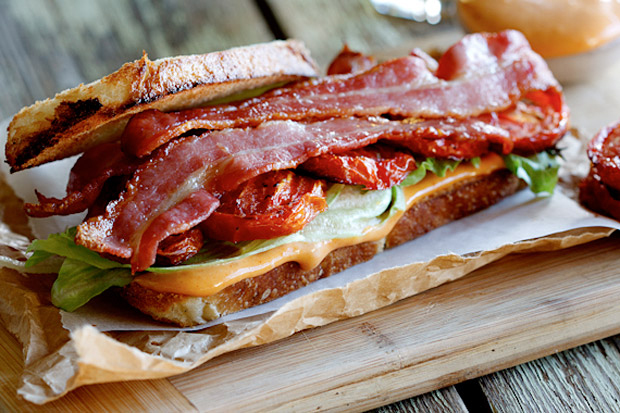 BLT - BACON, LETTUCE, TOMATO AND CHIPOTLE MAYO $8.95