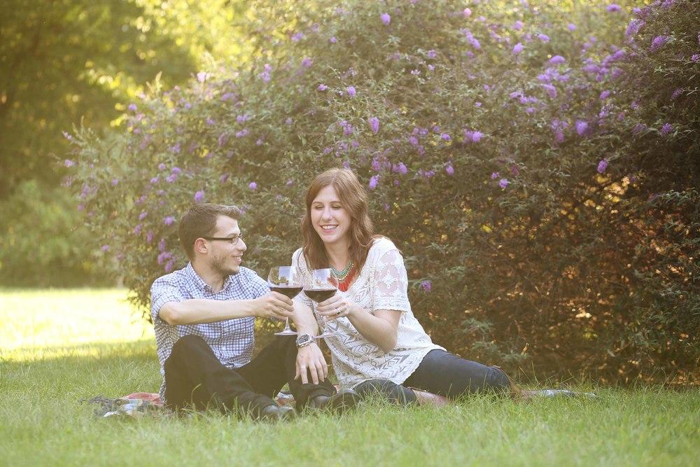 Park Picnic Charlotte NC Cordelia Park Engagement Photography