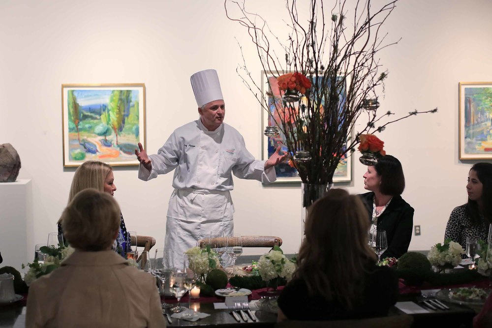 Chef Phillipe explains the history of Russian dining service and follows up between courses.