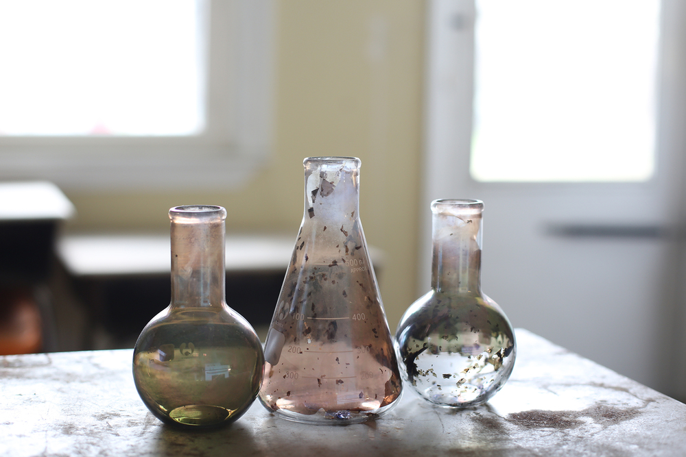 Salvaged chemistry beakers