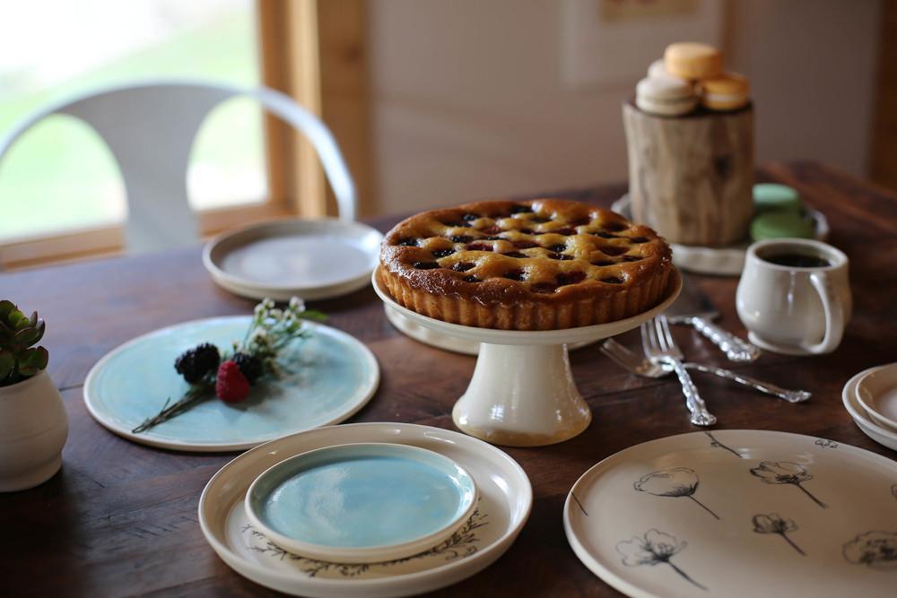 A mixed berry tart from Amélie's.
