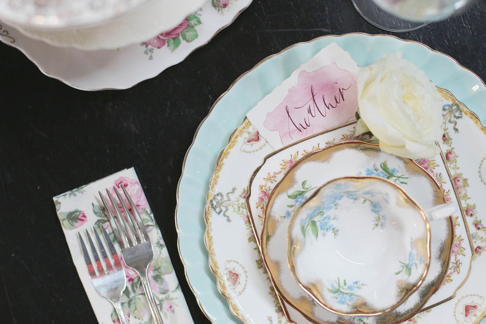 the china from the whimsical rose were just absolutely stunning!