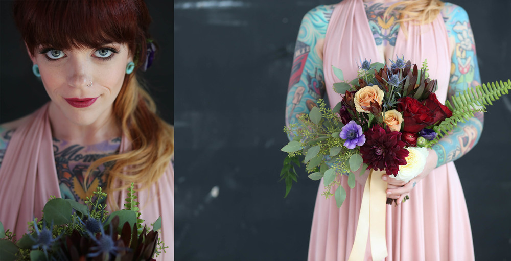 these colors!! Blush and muted tones with rich jewel tones, wow!