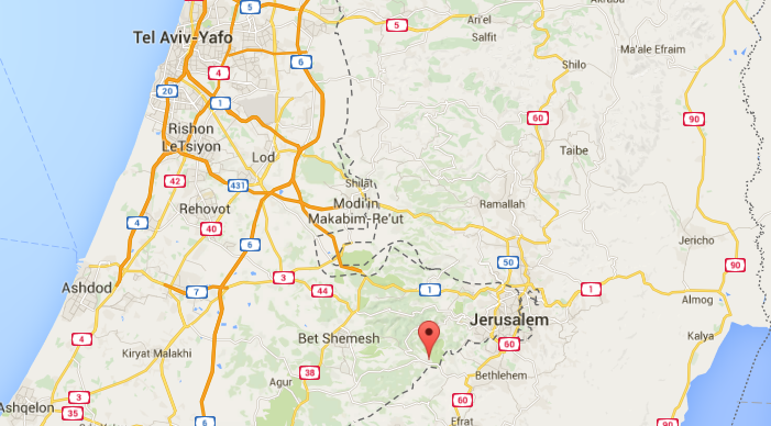 For those of you wondering where we are it is here. Mevo beitar is a mushav in the mountains between Bet Shemesh and Jerusalem. It takes around 30 minutes drive to get to the center of Jerusalem and a little over an hour to get to Tel Aviv.