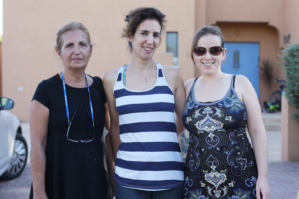Haviv ladies, Ilana, Meirav and Bat-chen (mom of Ya'ir and their newest baby Shahar (dawn)--congratulations to you and Yinnon!)