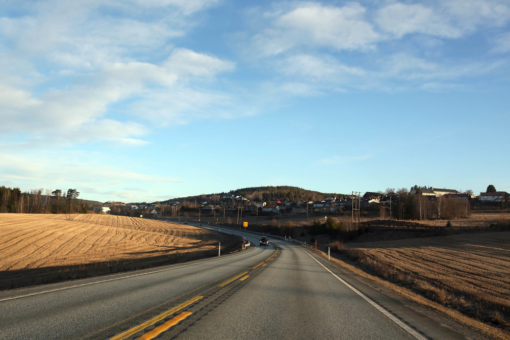 the drive to Hemsedal
