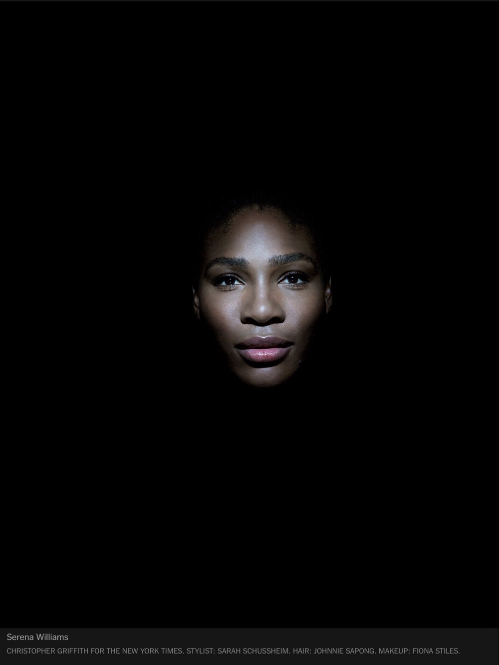 Click below this amazing picture of Serena to read a NY Times Magazine cover article about her and a Sports Illustrated cover article from August 2015.