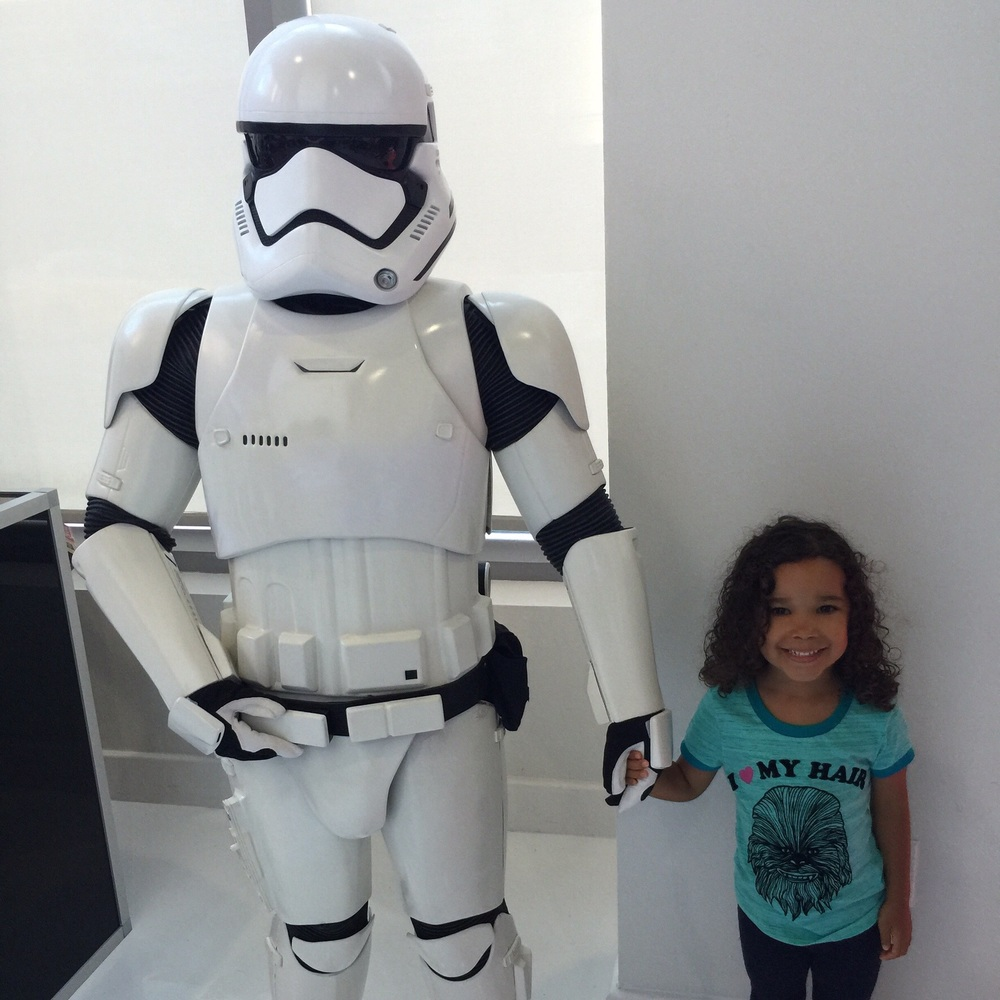 Just a girl and her stormtrooper.