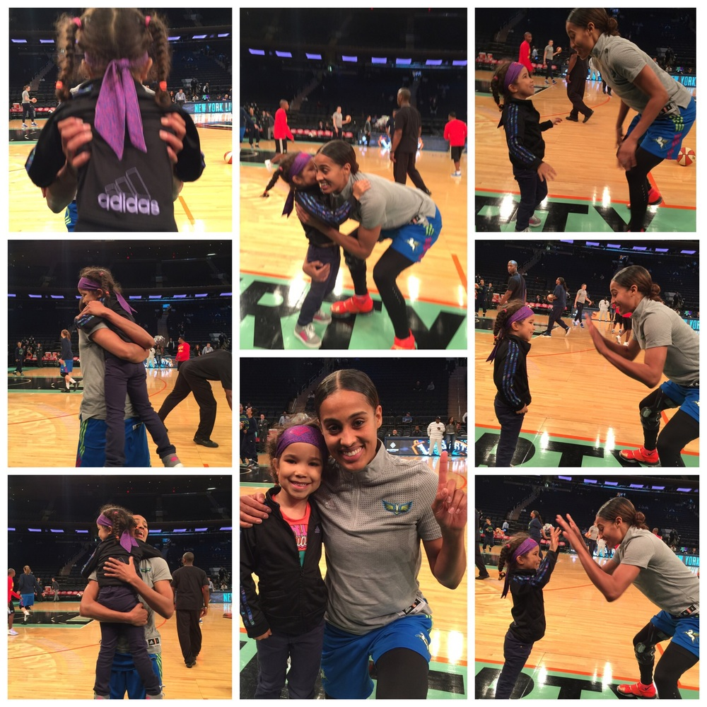 Here is the sequence of the meeting of Skylar Diggins and my daughter.