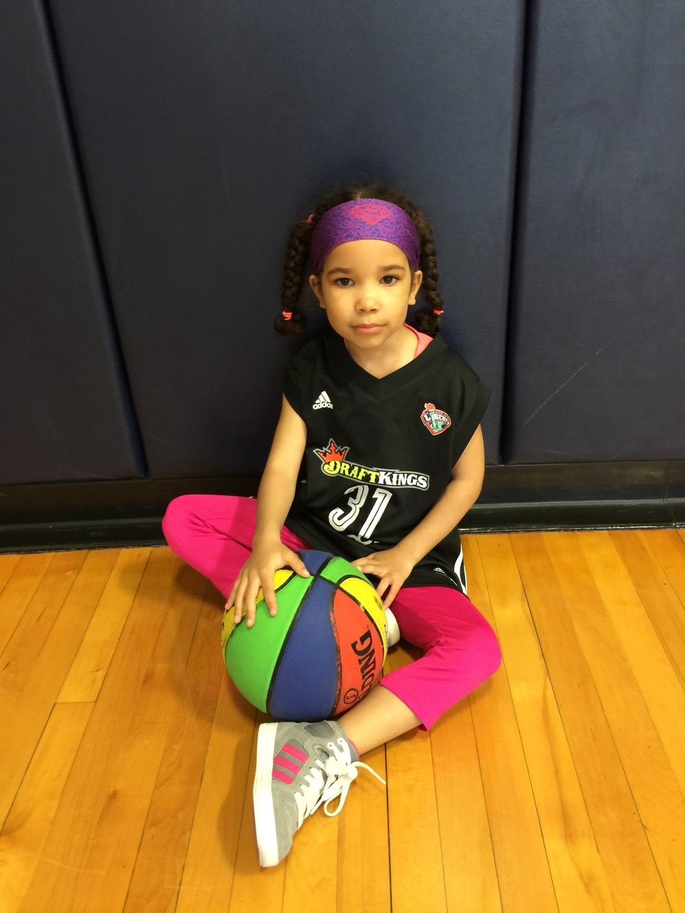 My daughter wore her Skylar Diggins headband and her Tina Charles jersey.