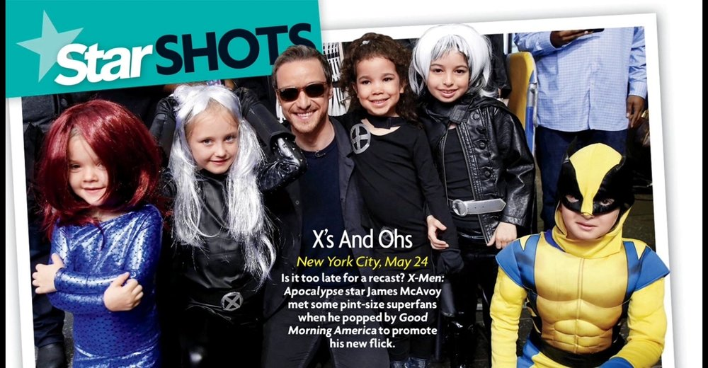 My daughter even appeared in Star Magazine!