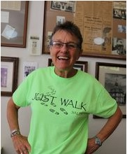 West Salem walk leader Nancy