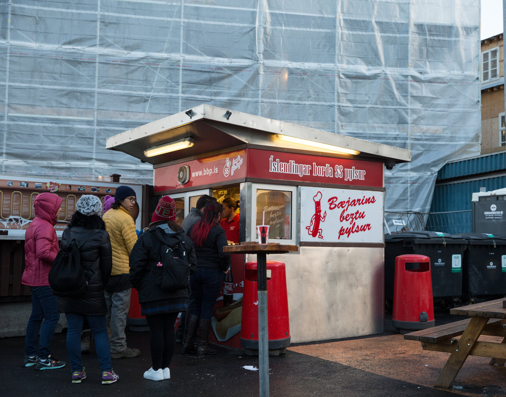 I had to experience the glory of the original Bæjarins Beztu Pylsur hotdog stand, located in Tryggvagata, Reykjavik. The godsends are made primariliy of lamb, with a beef and pork mixture. The stand has been in continuous operation since 1937. Visited by the likes of Metallica's James Hetfield, President Bill Clinton, it showed up on my radar first in Anthony Bourdain's No Reservations.