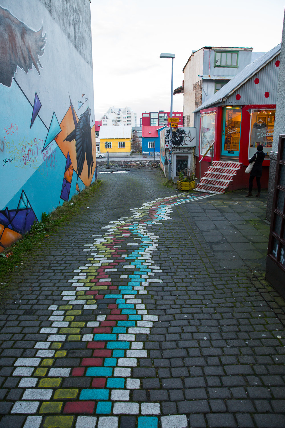 In many ways, the streets and environs of Reykjavik make for a perfect canvas for the bright street art that covers many parts of the city.