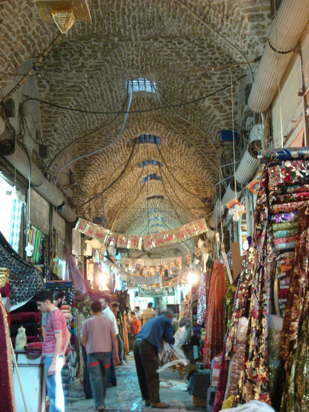The medieval sooks of Aleppo where Armenian artisans were a presence