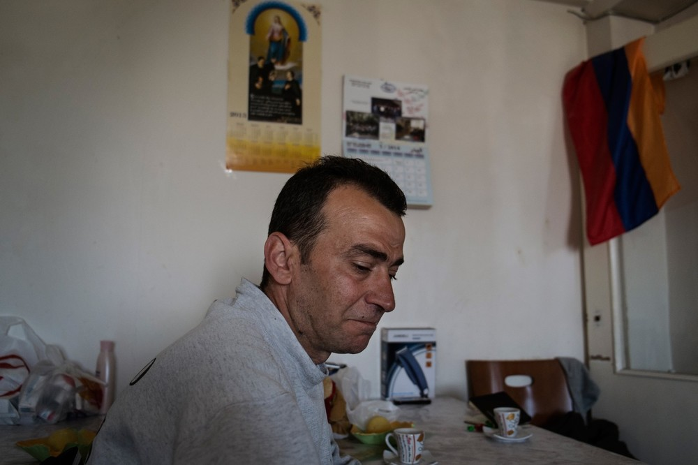 Some of the refugees live in a kind of shelter in the suburb of Yerevan, Armenia. (Gianmarco Maraviglia/Echo Photo Agency)