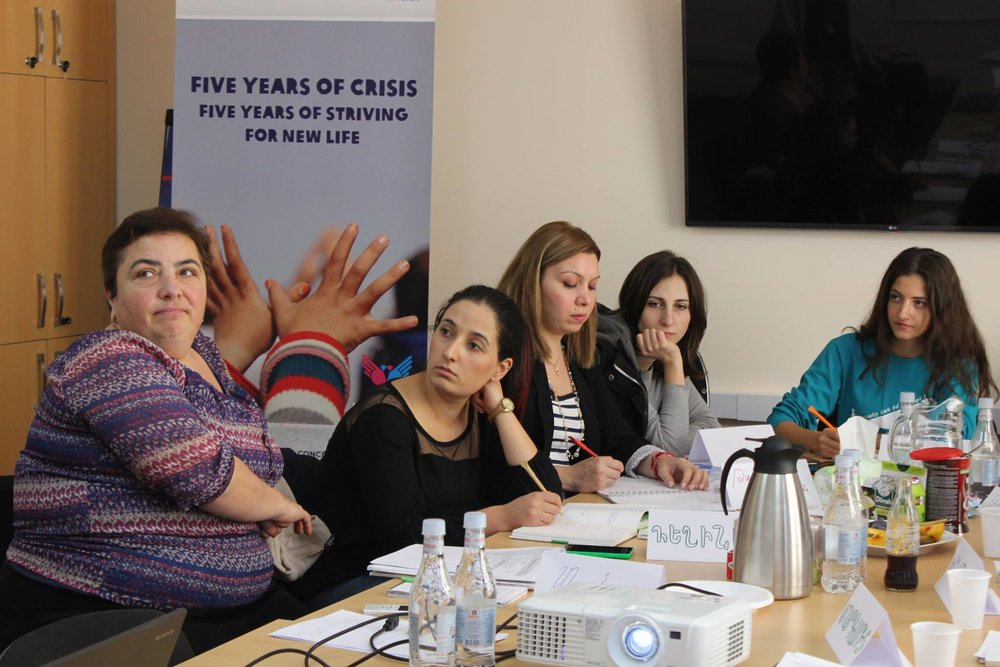 The new cadre of social workers during their training in Yerevan Armenia, October 2016. Photo credit Oxfam Armenia