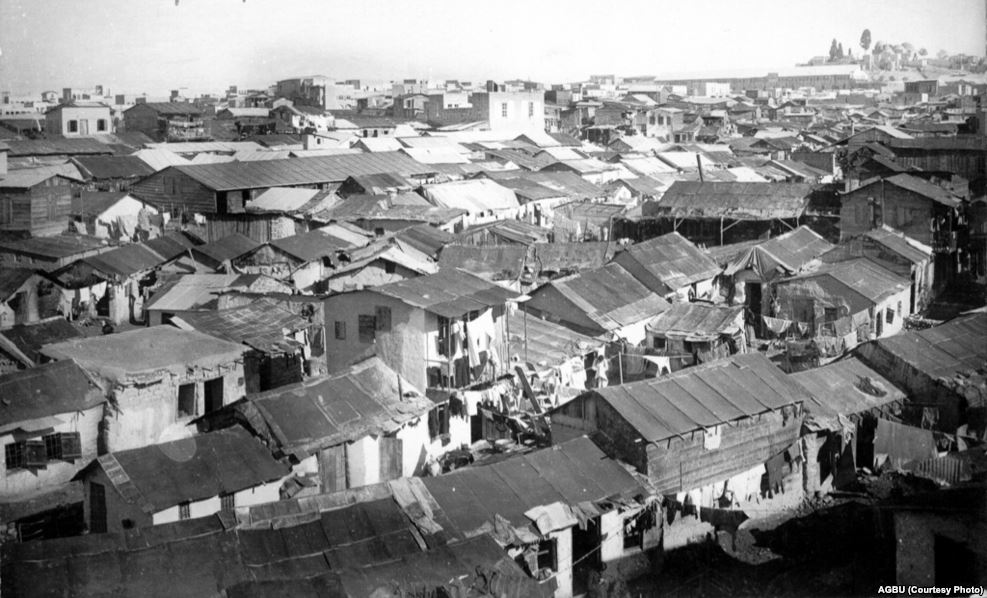 Armenian refugee shacks in Aleppo circa 1920 - AGBU (Courtesy photo)