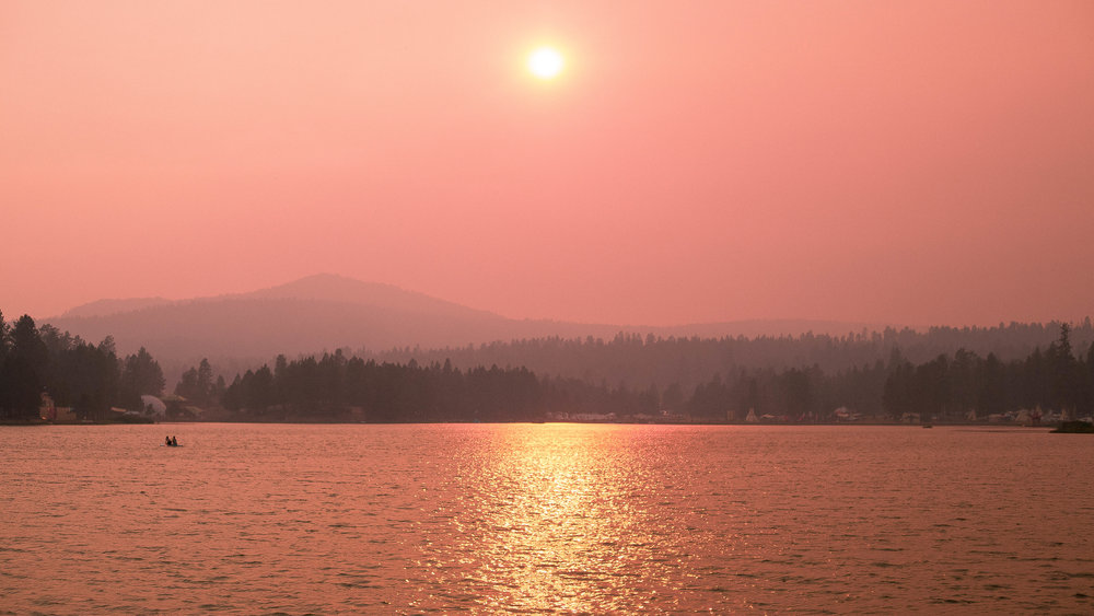 Smokey but still one of the prettiest sunsets I have ever seen.