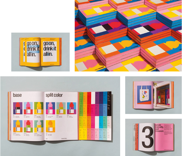 Brand book de Vitaminwater (agence Collins)