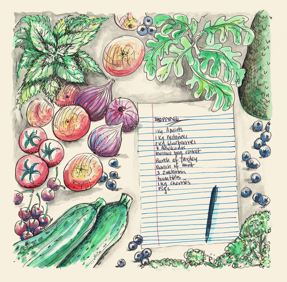 Julia deVille's shopping list by   Tina van den Broek