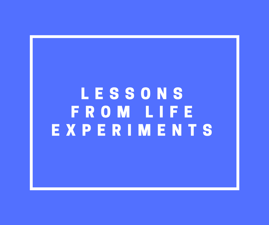 Life experiments from Extraordinary Routines