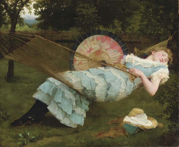 Dolce Far Niente (sweet doing nothing, sweet idleness) by Valentine Cameron Prinsep, 1885